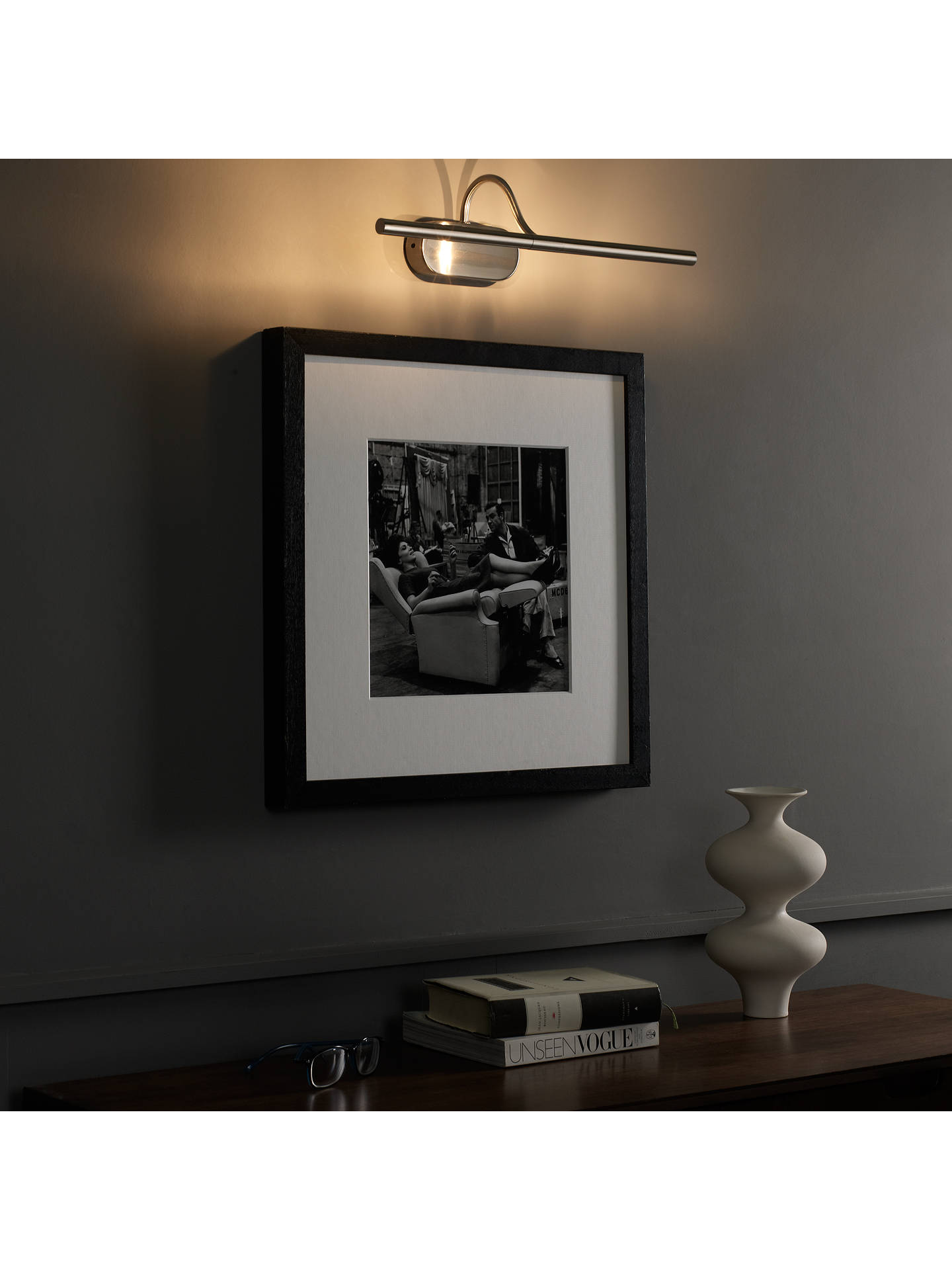 BuyJohn Lewis & Partners Litho LED Wall Light, Satin Nickel Online at johnlewis.com