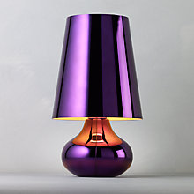 Buy Kartell Cindy Table Lamp, Purple Online at johnlewis.com