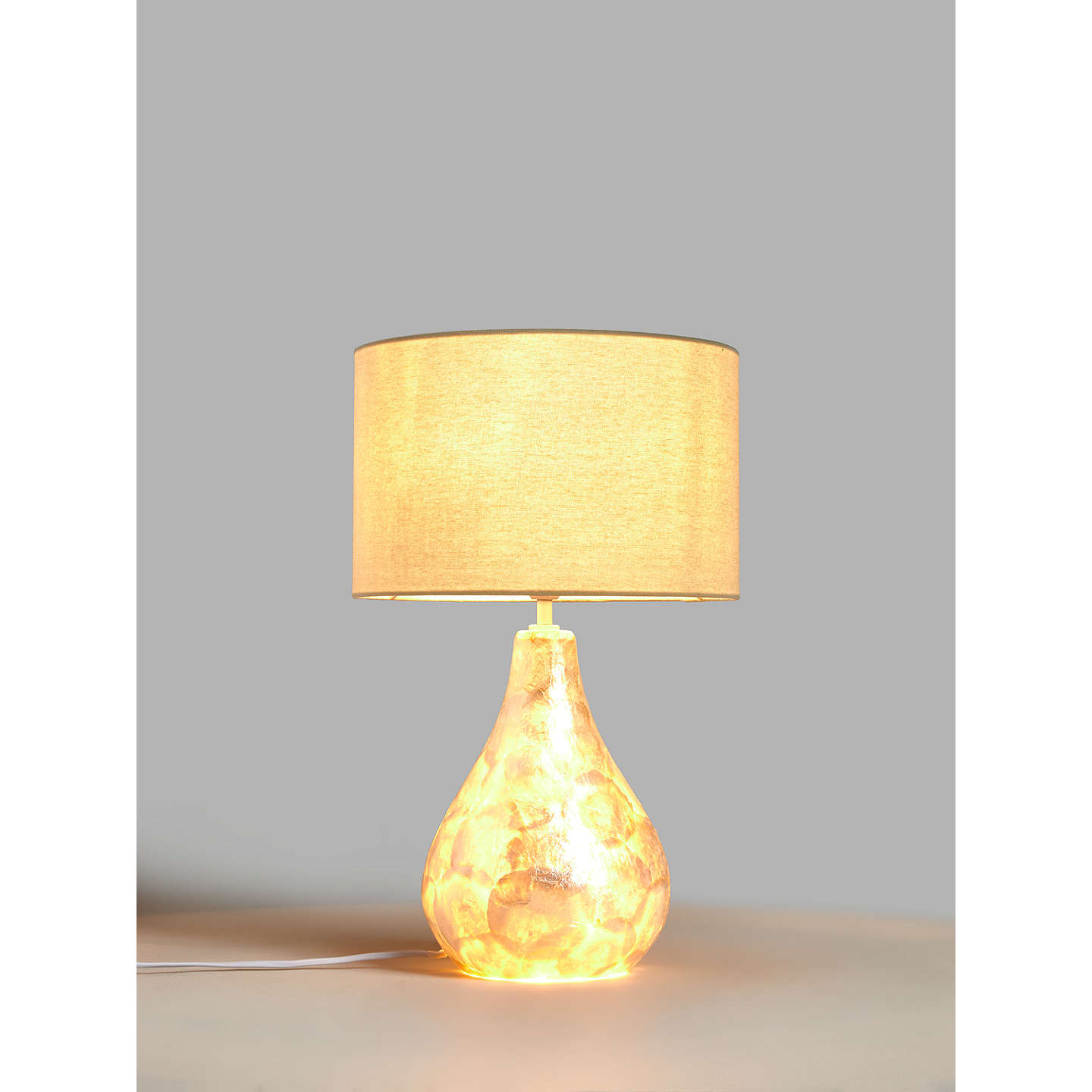 ... BuyJohn Lewis Pearl Dual Lit Capiz Shell Table Lamp Online At  Johnlewis.com