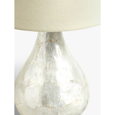 Product photo of John lewis pearl duallit capiz shell table lamp