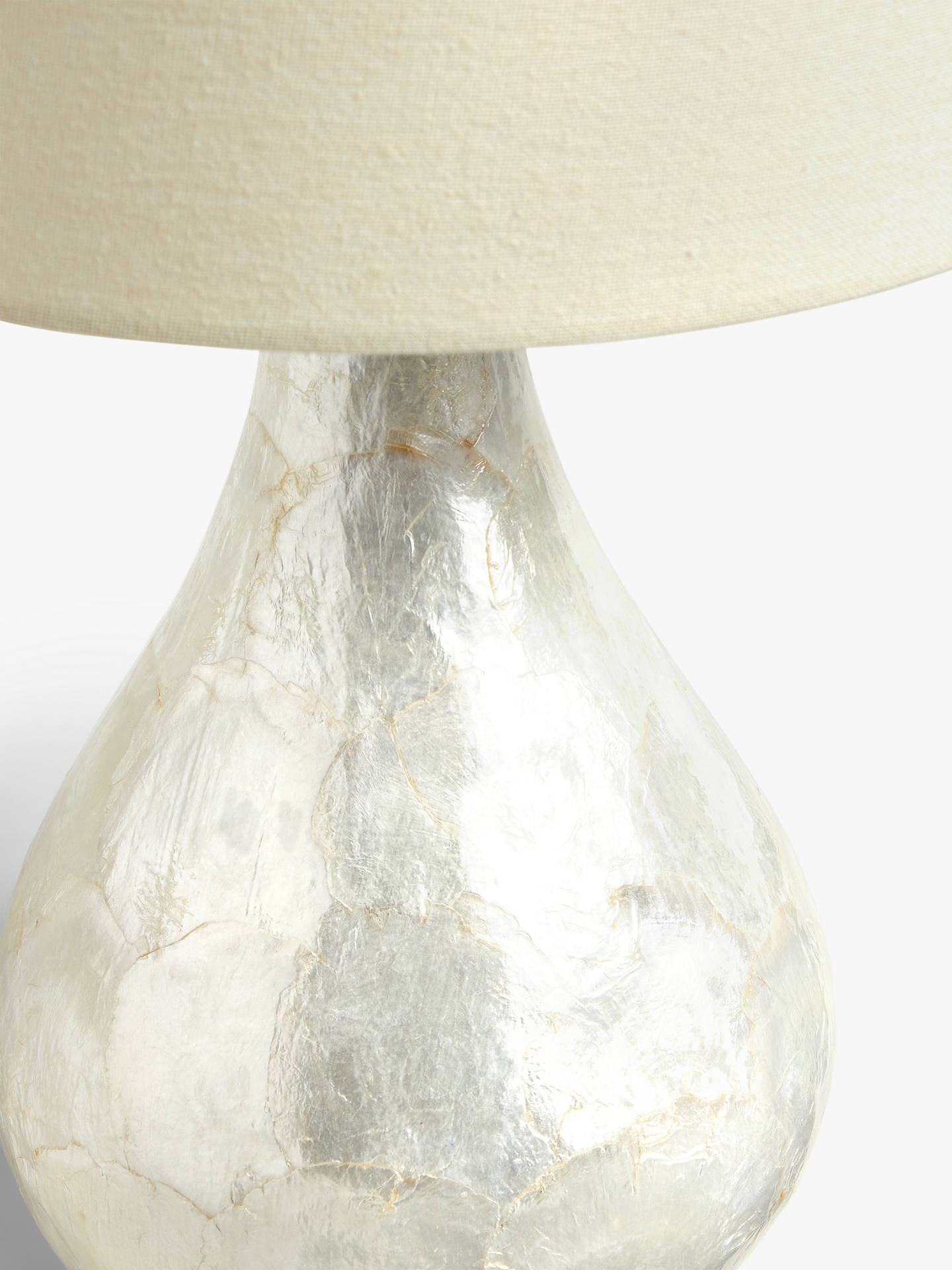 John Lewis Partners Pearl Dual Lit Capiz Shell Table Lamp At John