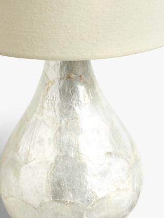 John Lewis & Partners Pearl Dual-Lit Capiz Shell Table Lamp