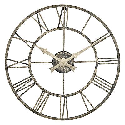 Lascelles Outdoor Clock, Dia.50cm, Metallic