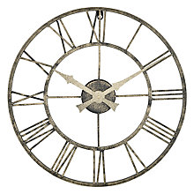 Buy Lascelles Outdoor Clock, Dia.50cm, Metallic Online at johnlewis.com
