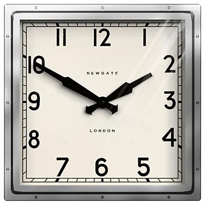 Newgate Quad Wall Clock, Dia.40cm, Silver