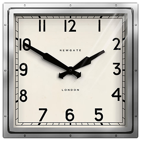 Buy Newgate Quad Wall Clock, Steel Online at johnlewis.com