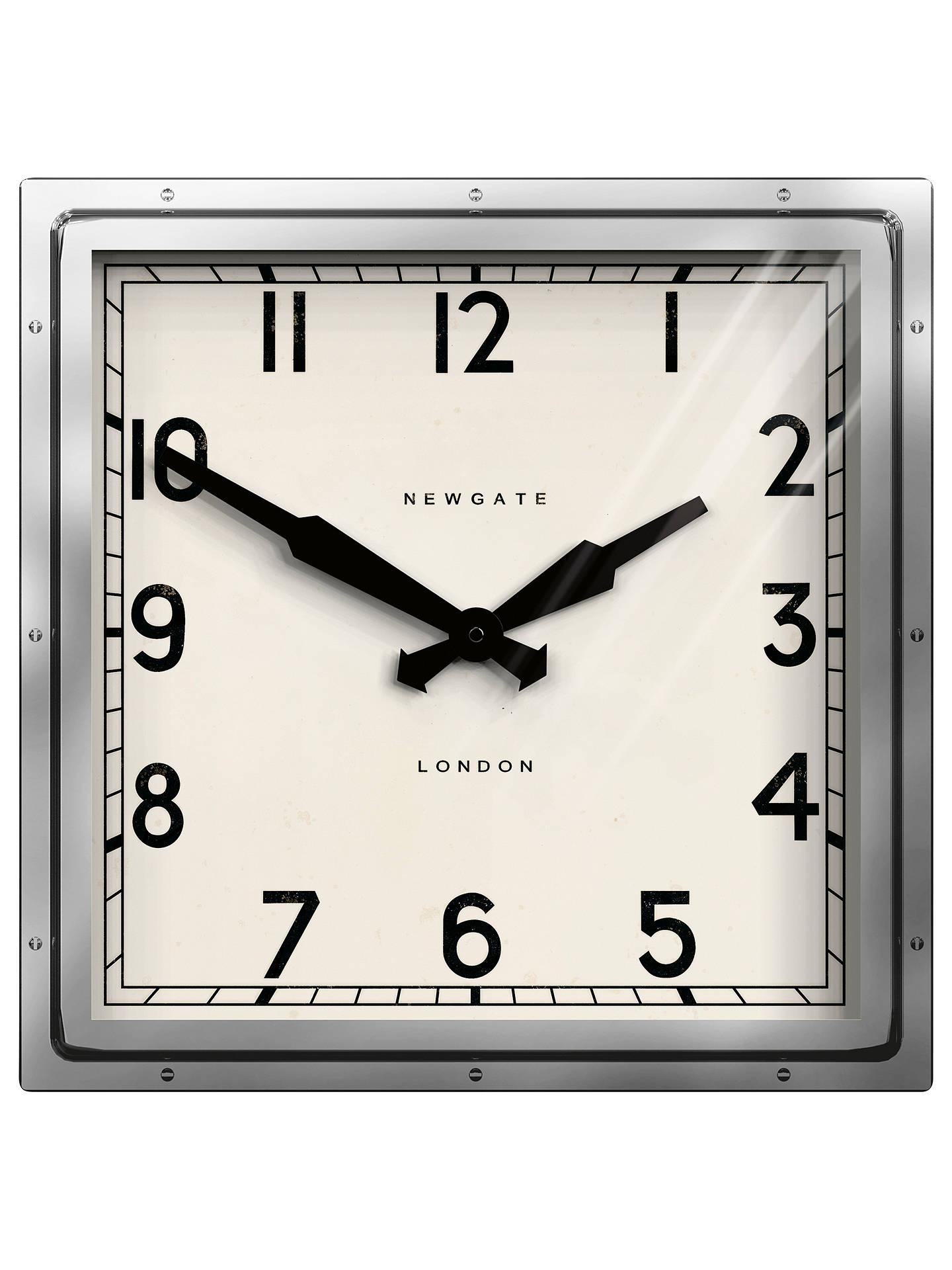 Newgate Quad Wall Clock Dia40cm Silver At John Lewis Partners