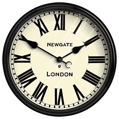Newgate Battersby Wall Clock, Dia.50cm, Black