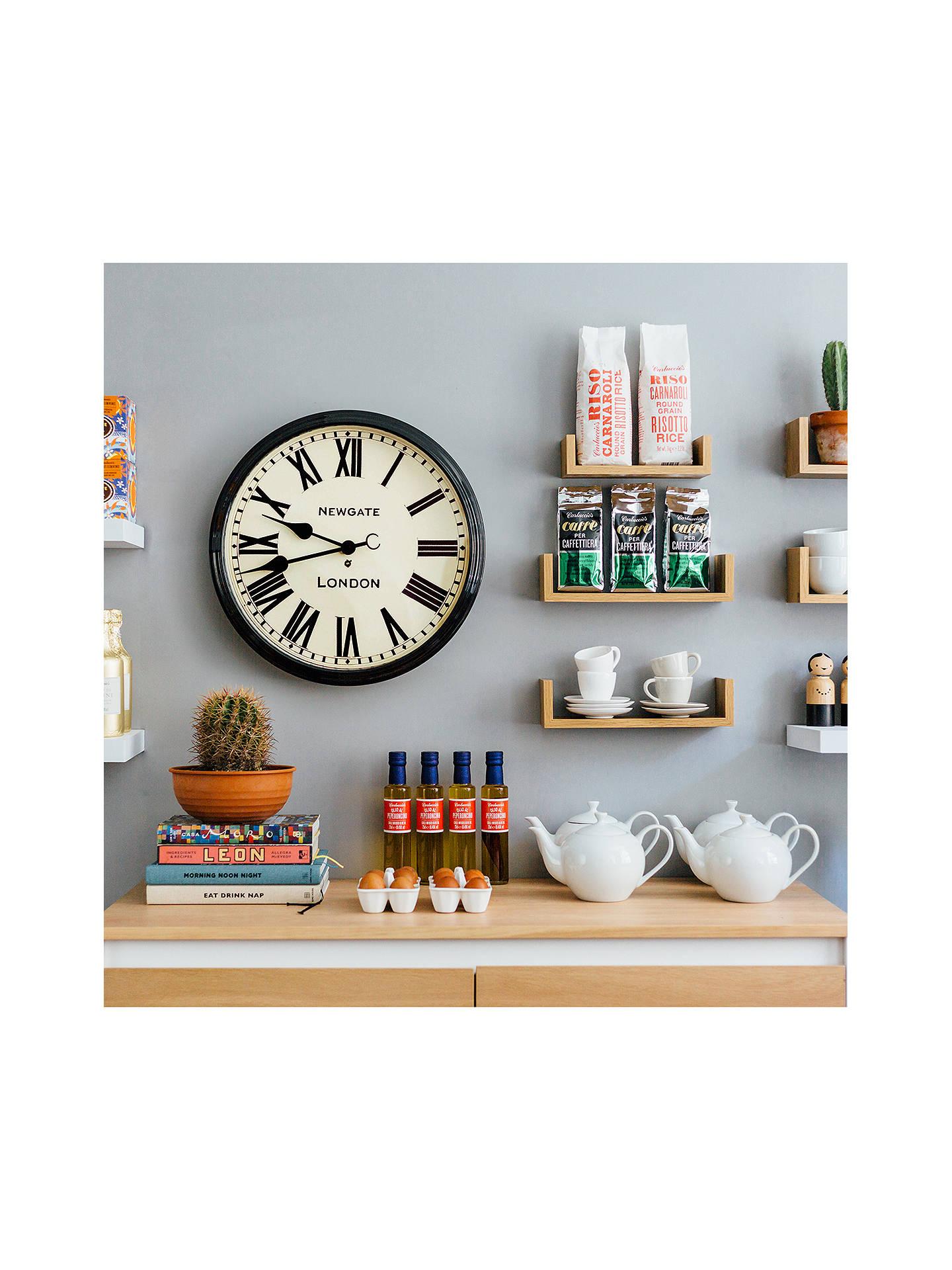 Newgate Battersby Wall Clock Dia50cm Black At John Lewis Partners