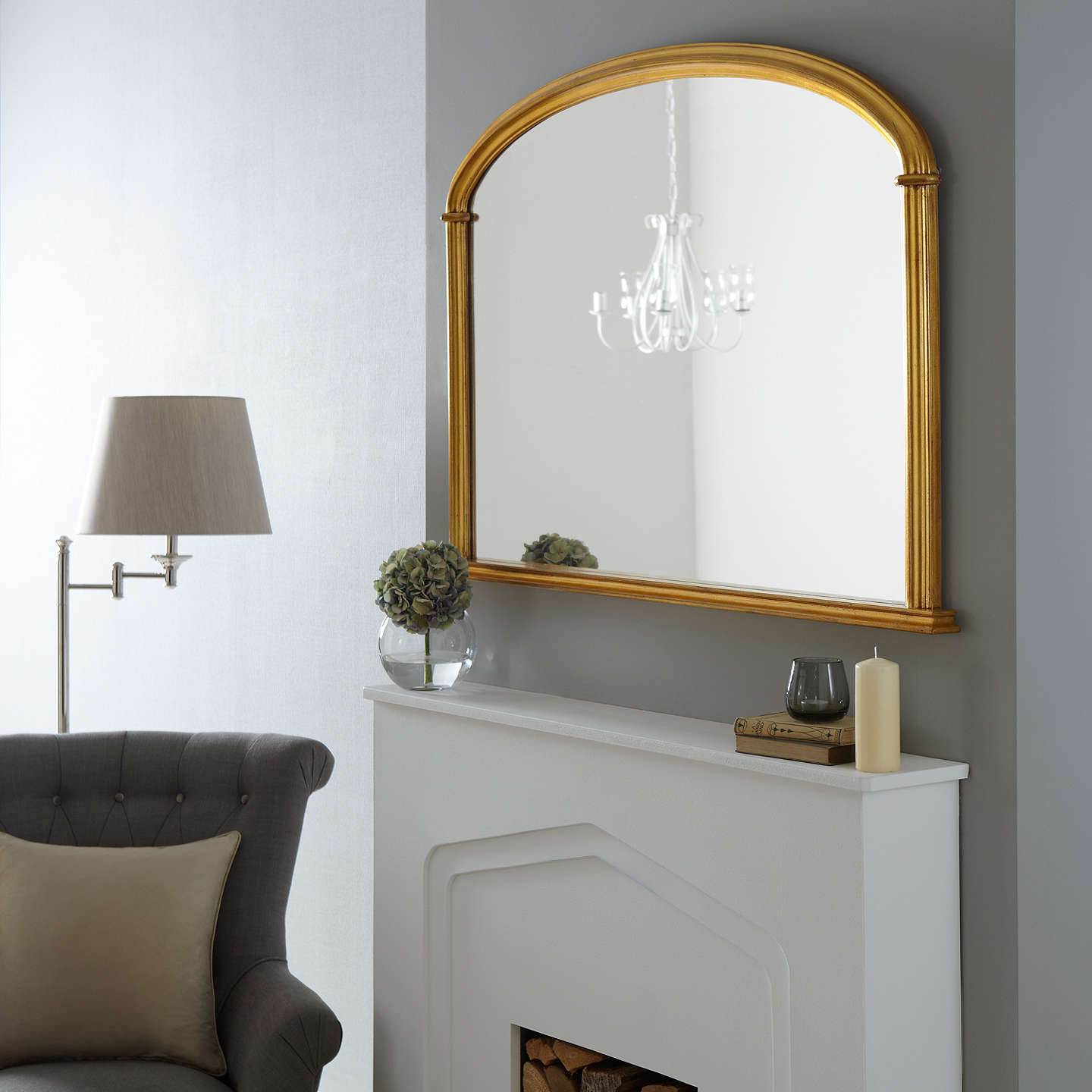 john lewis eve overmantel mirror 84 x 124cm at john lewis. Black Bedroom Furniture Sets. Home Design Ideas
