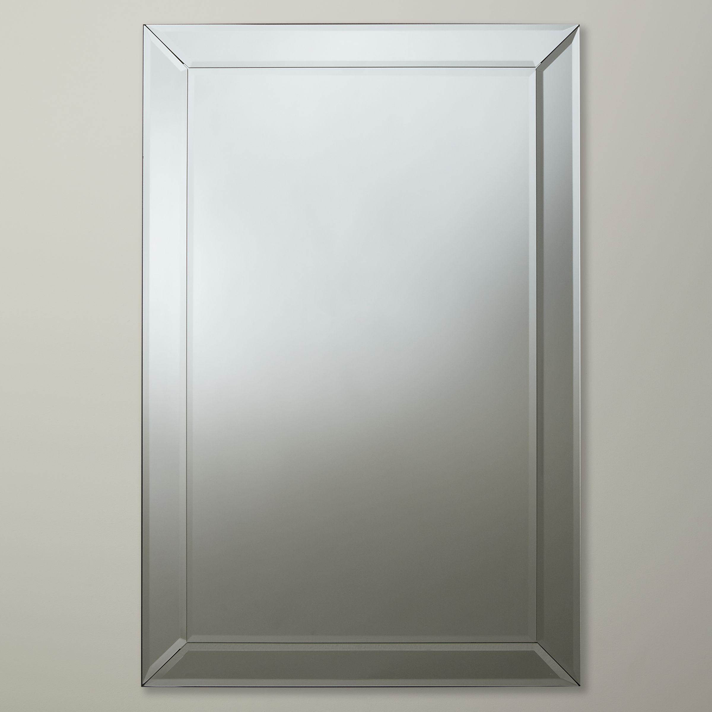 John lewis bevel simple mirror medium 90 x 60cm octer for Mirror 90 x 90