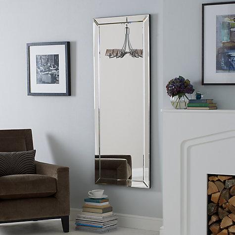 Buy john lewis bevel simple mirror large 150 x 60cm for Miroir 60x150