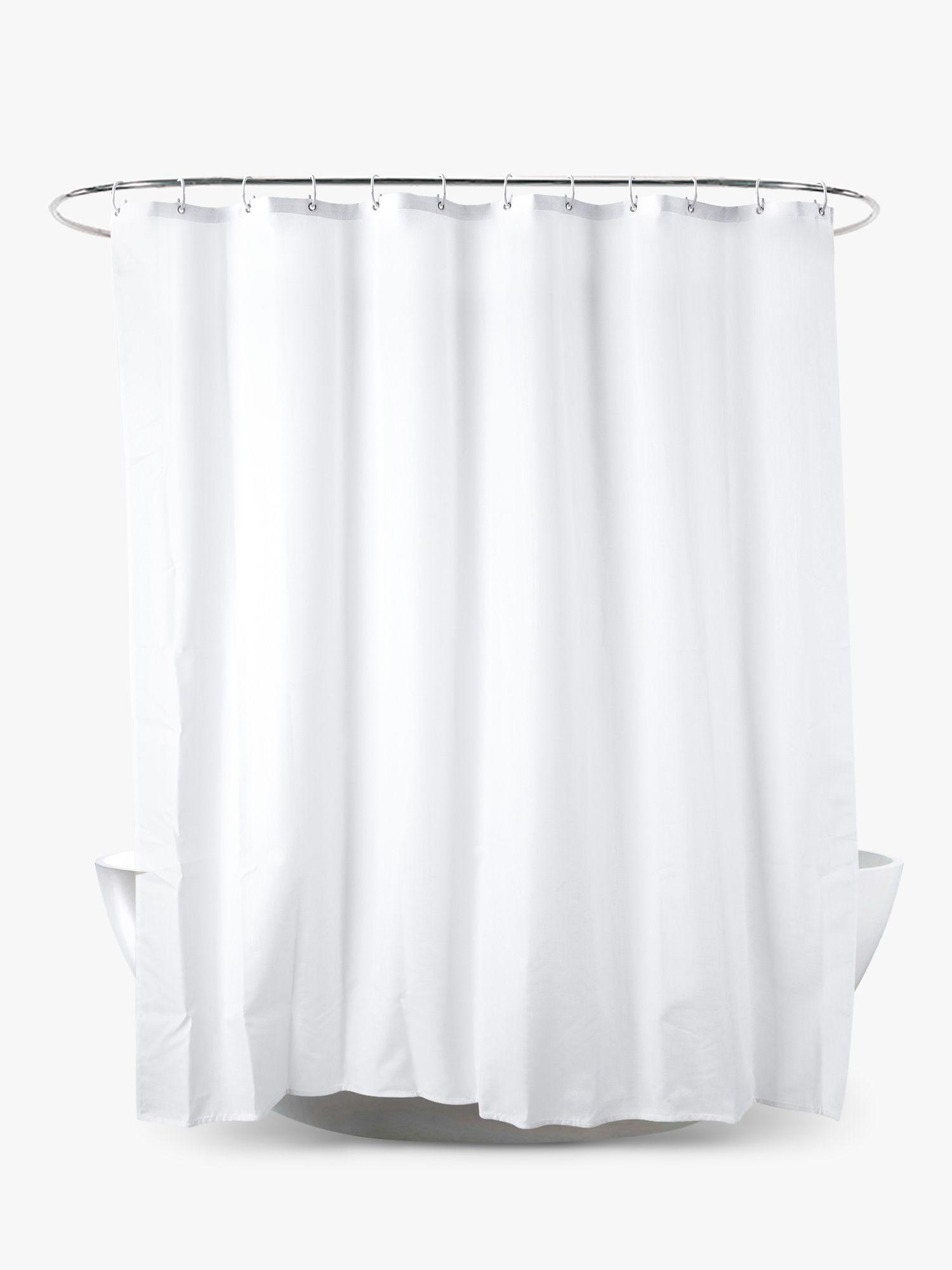 John Lewis Partners Slub Shower Curtain Extra Long At John Lewis