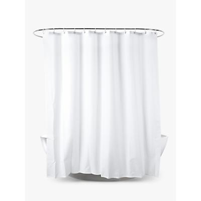 John Lewis Slub Shower Curtain, White, Extra Long