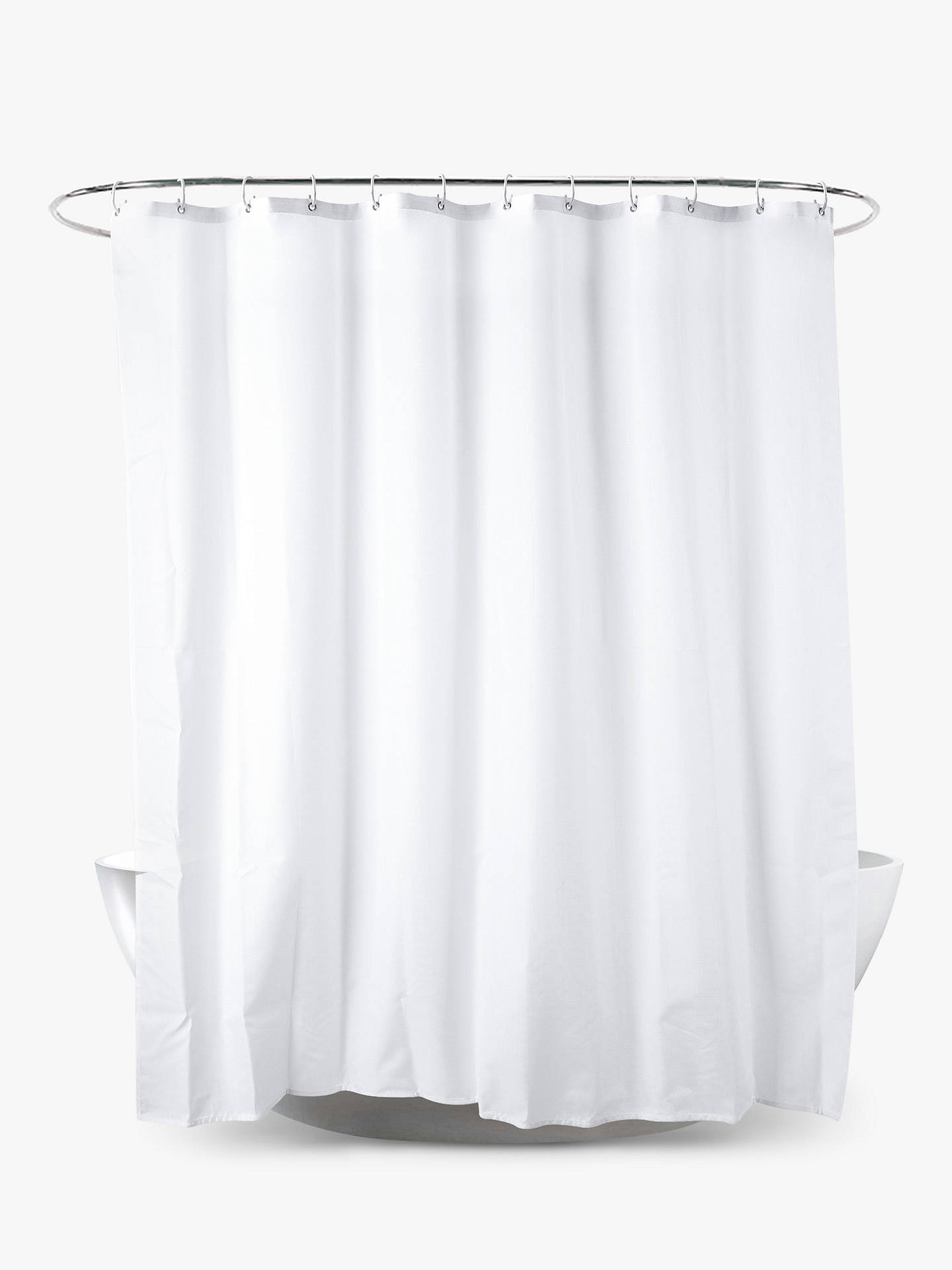 BuyJohn Lewis Partners Slub Shower Curtain Extra Long Online At Johnlewis