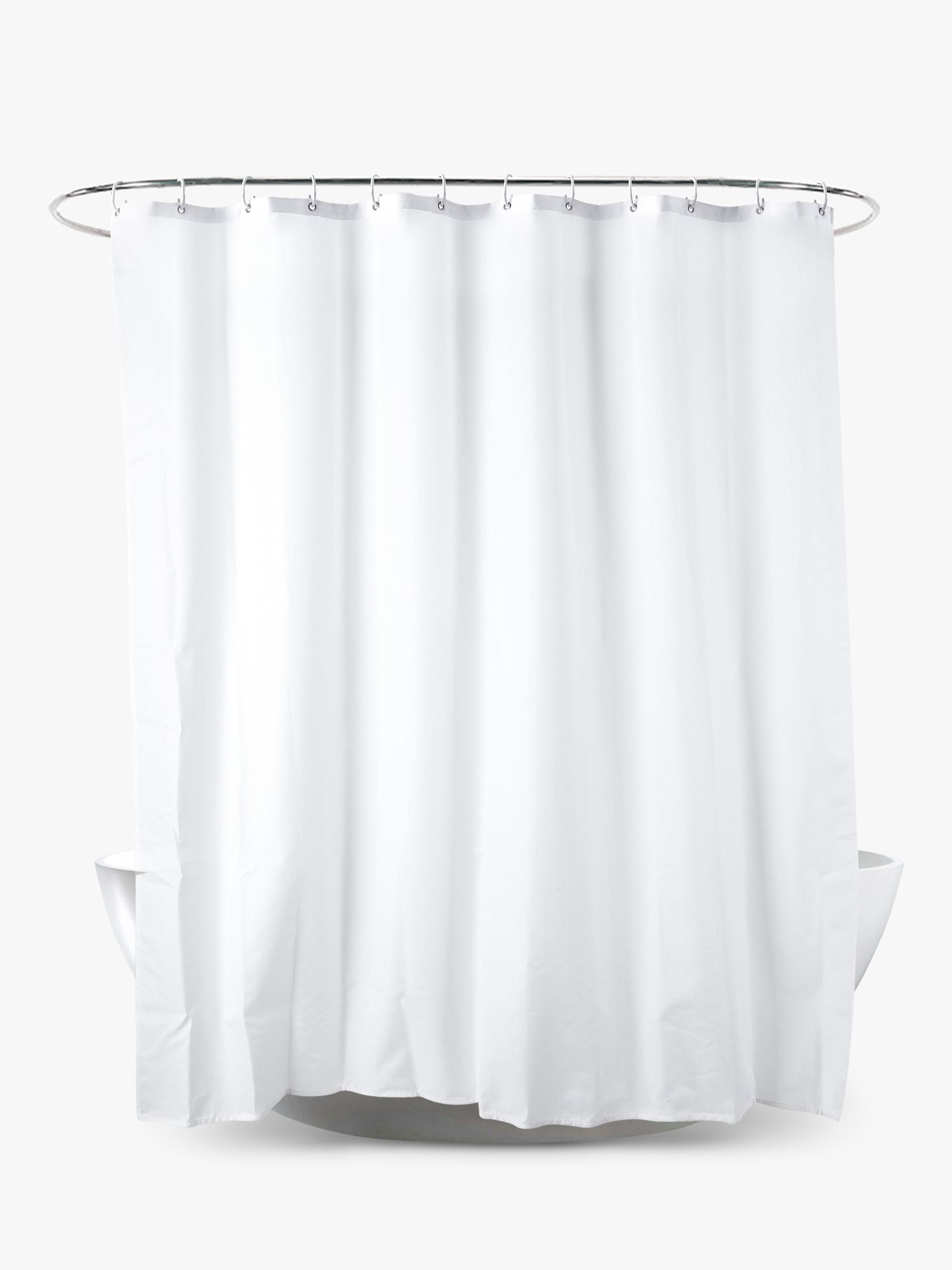 John Lewis & Partners Textured Slub Shower Curtain, Extra Long