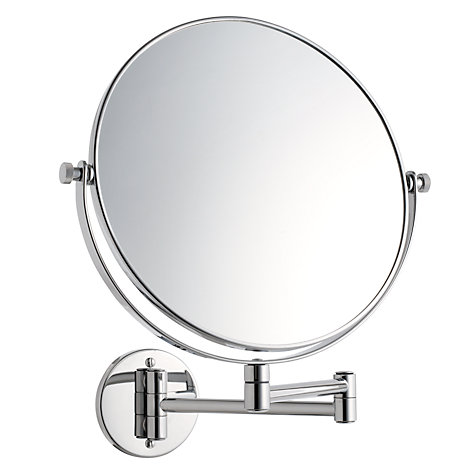 Bathroom Mirrors Extendable Magnifying buy john lewis extending magnifying bathroom mirror, 25cm | john lewis