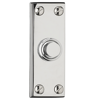 Image of John Lewis Bell Push, Polished Chrome