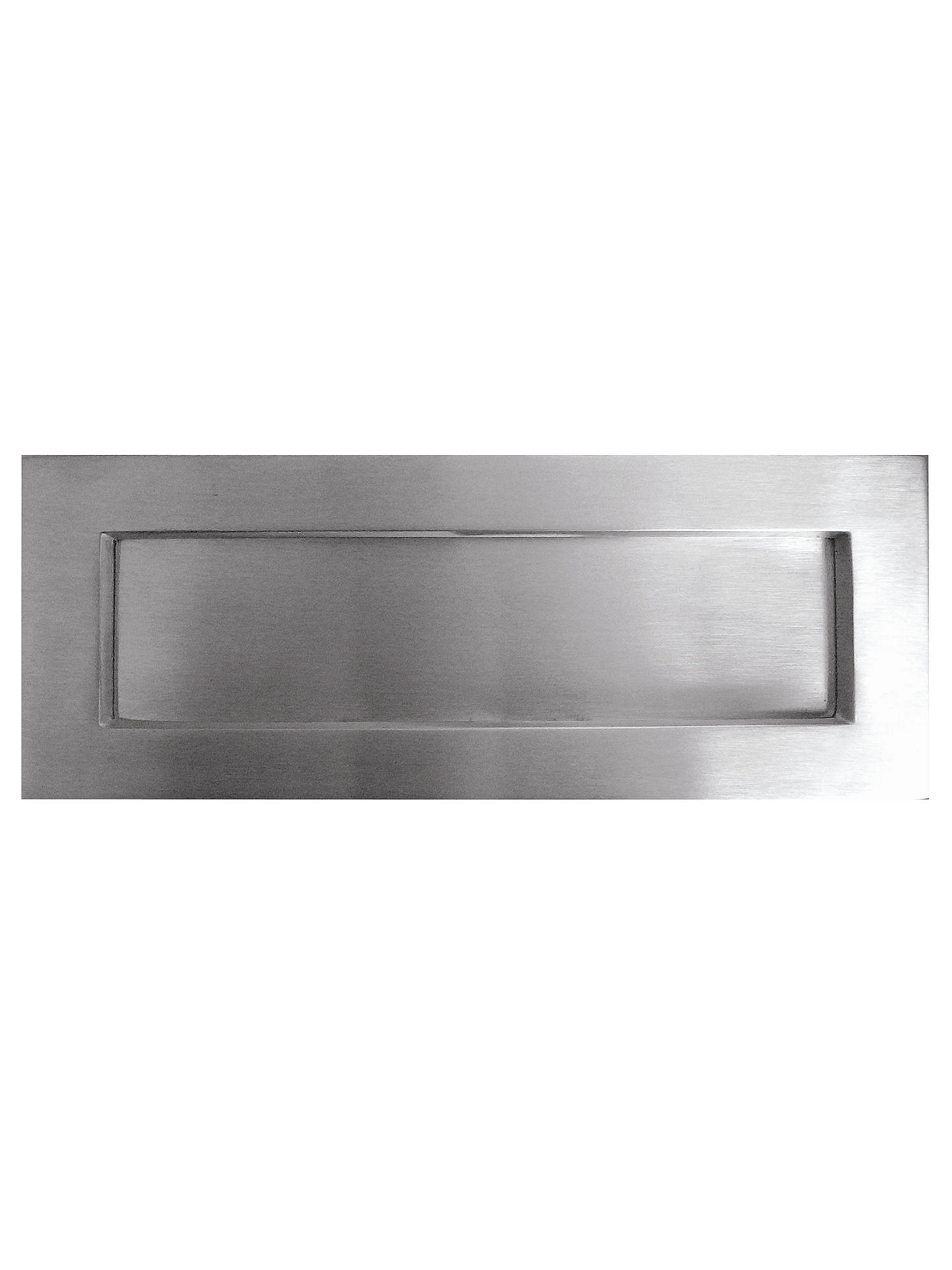 Buy John Lewis & Partners Letterbox Plate, Satin Chrome, H100 x W305cm Online at johnlewis.com