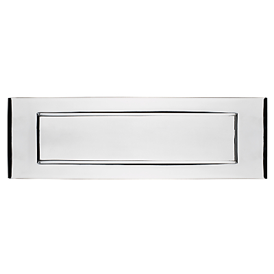 John Lewis Letterbox Plate, Polished Chrome
