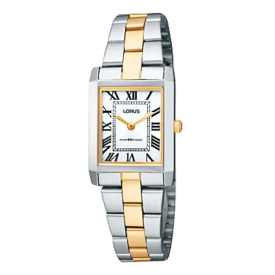 Lorus RTA03AX9 Women's Two-Tone Bracelet Strap Watch, Gold/Silver