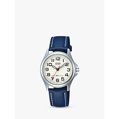 Lorus Children's Round Dial Leather Strap Watch