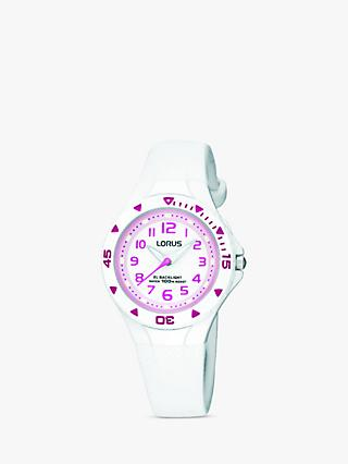 Lorus Girls' Rubber Strap Watch