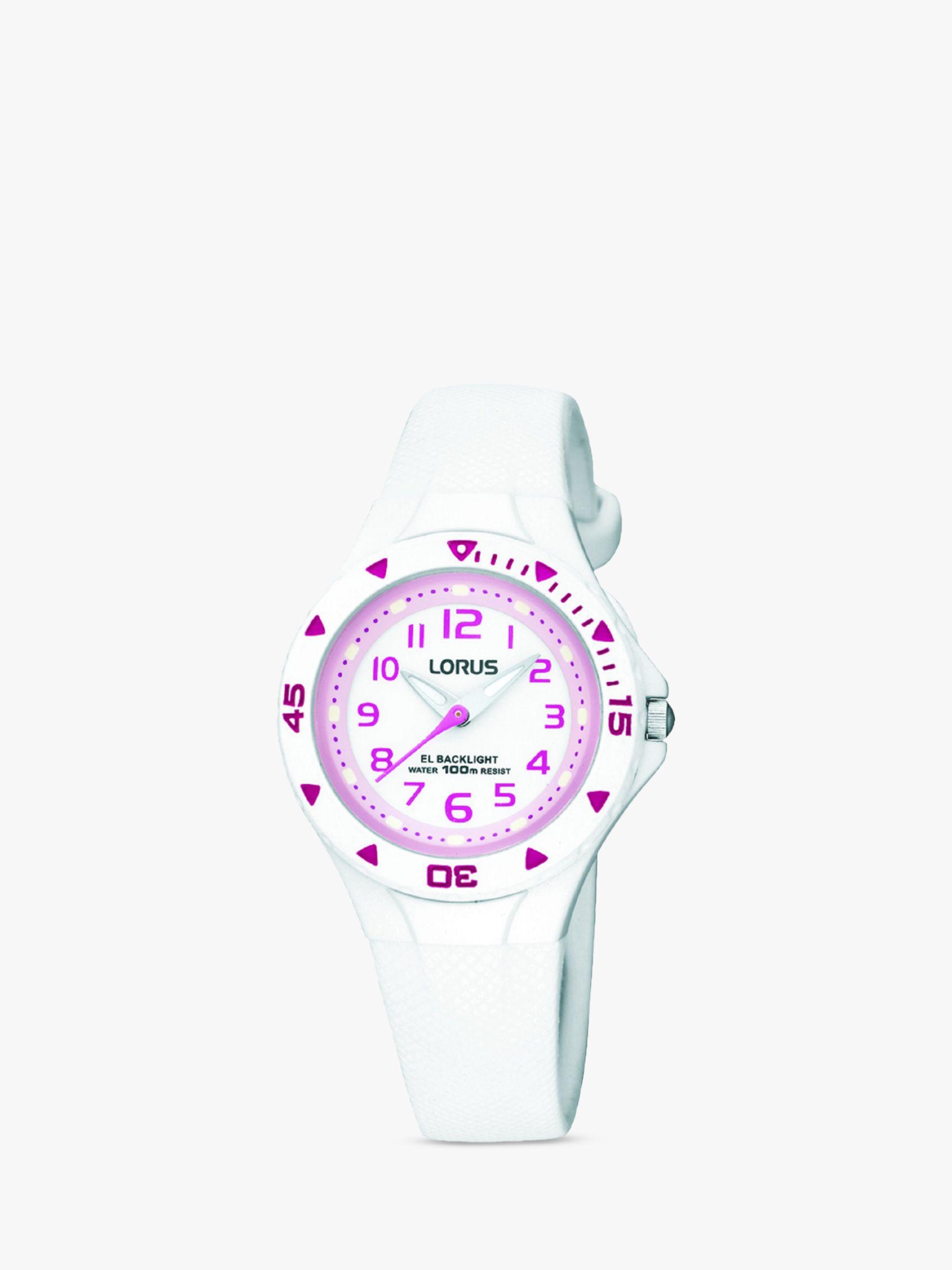 Lorus Lorus Girls' Rubber Strap Watch