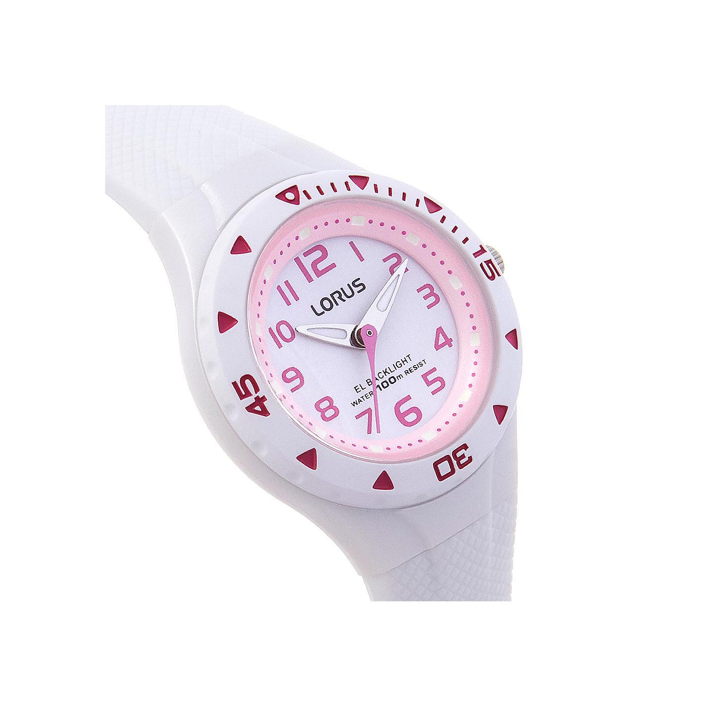 Buy Lorus Girls\' Rubber Strap Watch | John Lewis