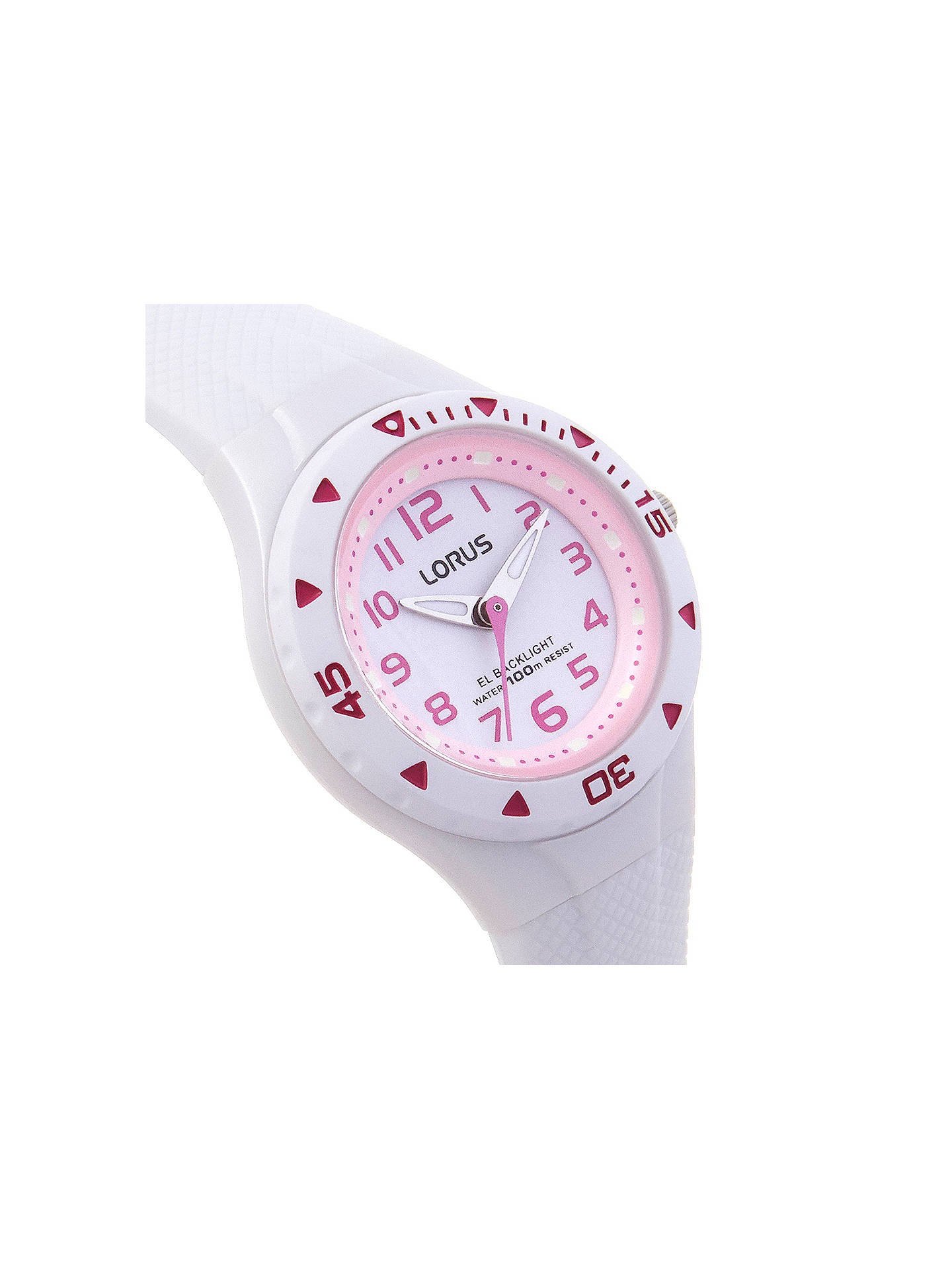 BuyLorus R2335DX9 Girls' Rubber Strap Watch, White Online at johnlewis.com