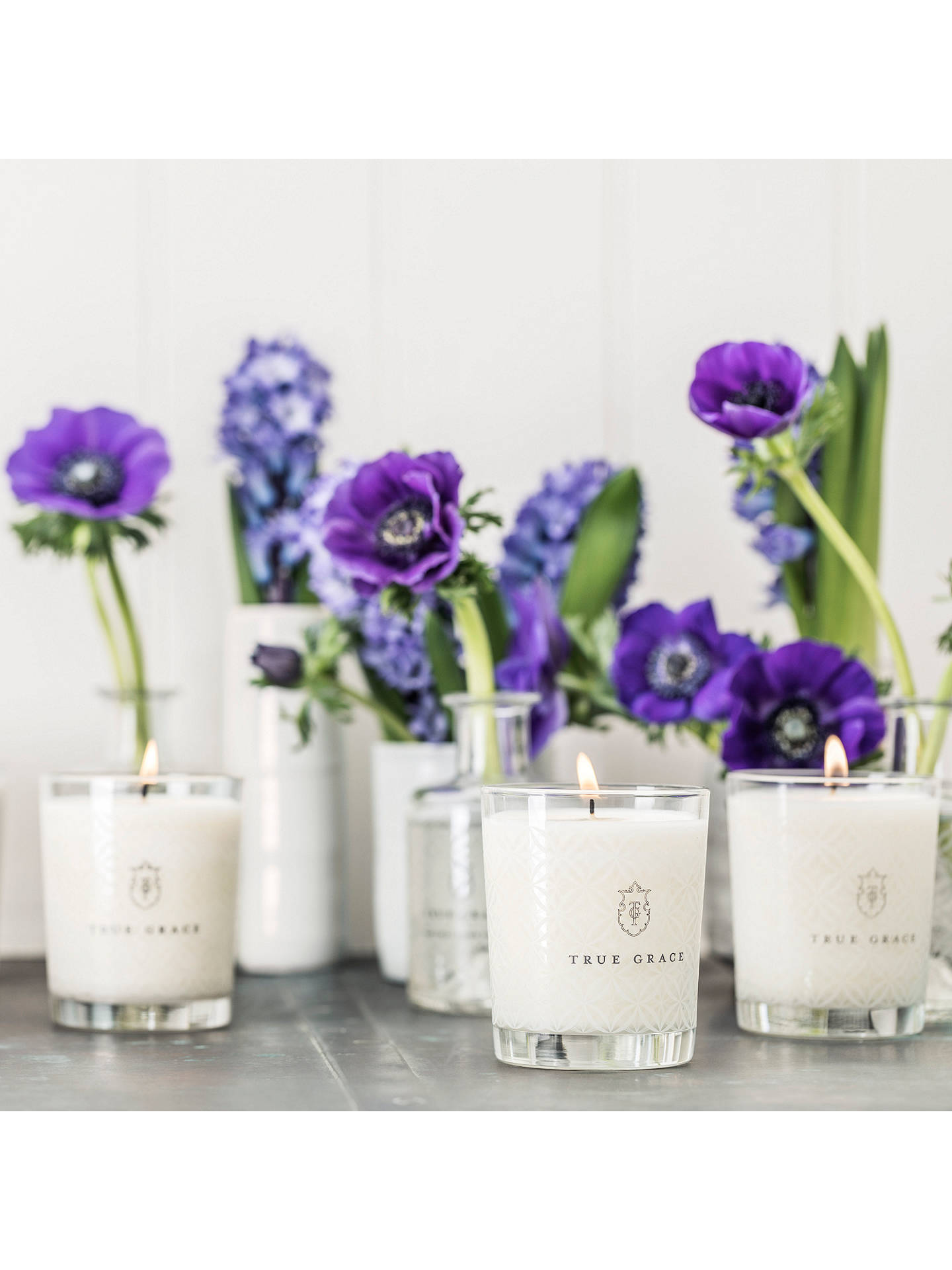 Buy True Grace Village Moroccan Rose Classic Scented Candle Online at johnlewis.com