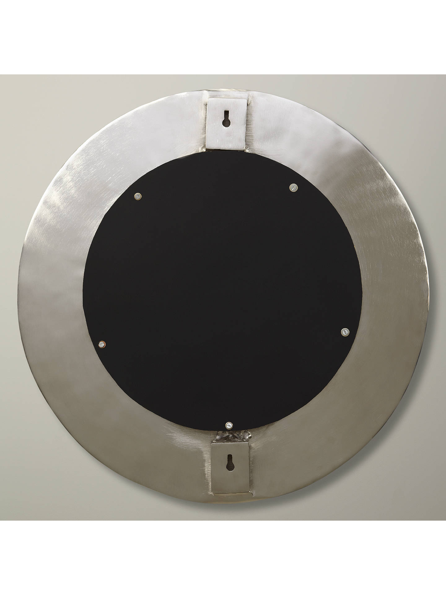 Buy John Lewis & Partners Lunar Round Wall Mirror, 59cm, Silver Online at johnlewis.com