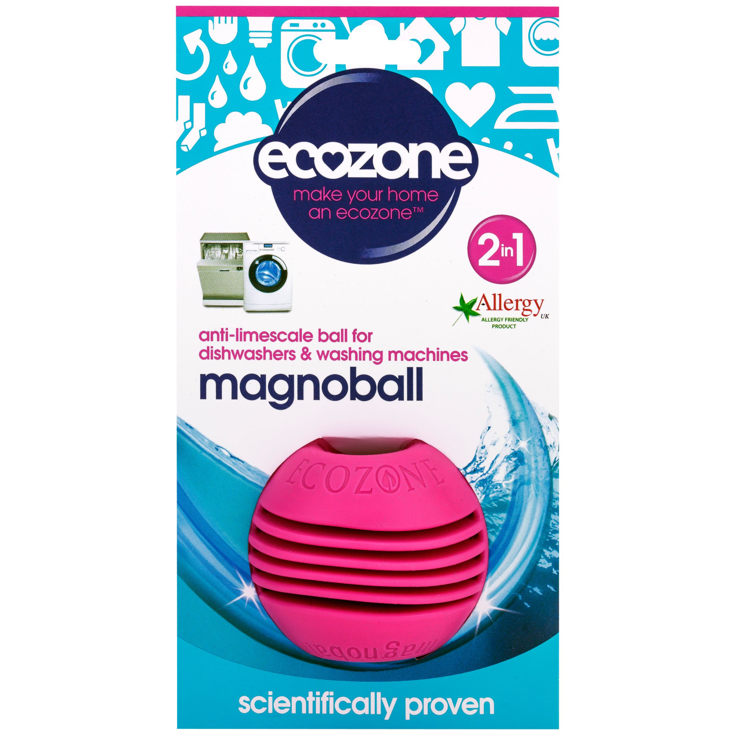 Ecozone Ecozone Washing Machine and Dishwasher Anti-Limescale Ball