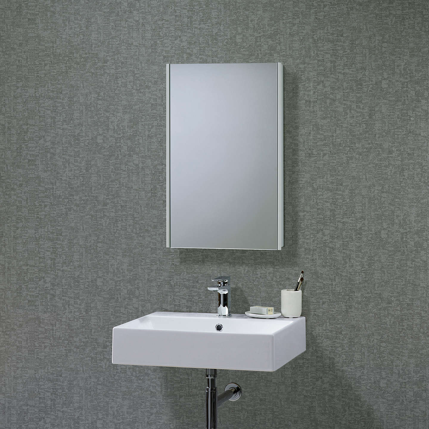 BuyRoper Rhodes Limit Slimline Single Mirrored Bathroom Cabinet Online at johnlewis.com ... & Roper Rhodes Limit Slimline Single Mirrored Bathroom Cabinet at John ...