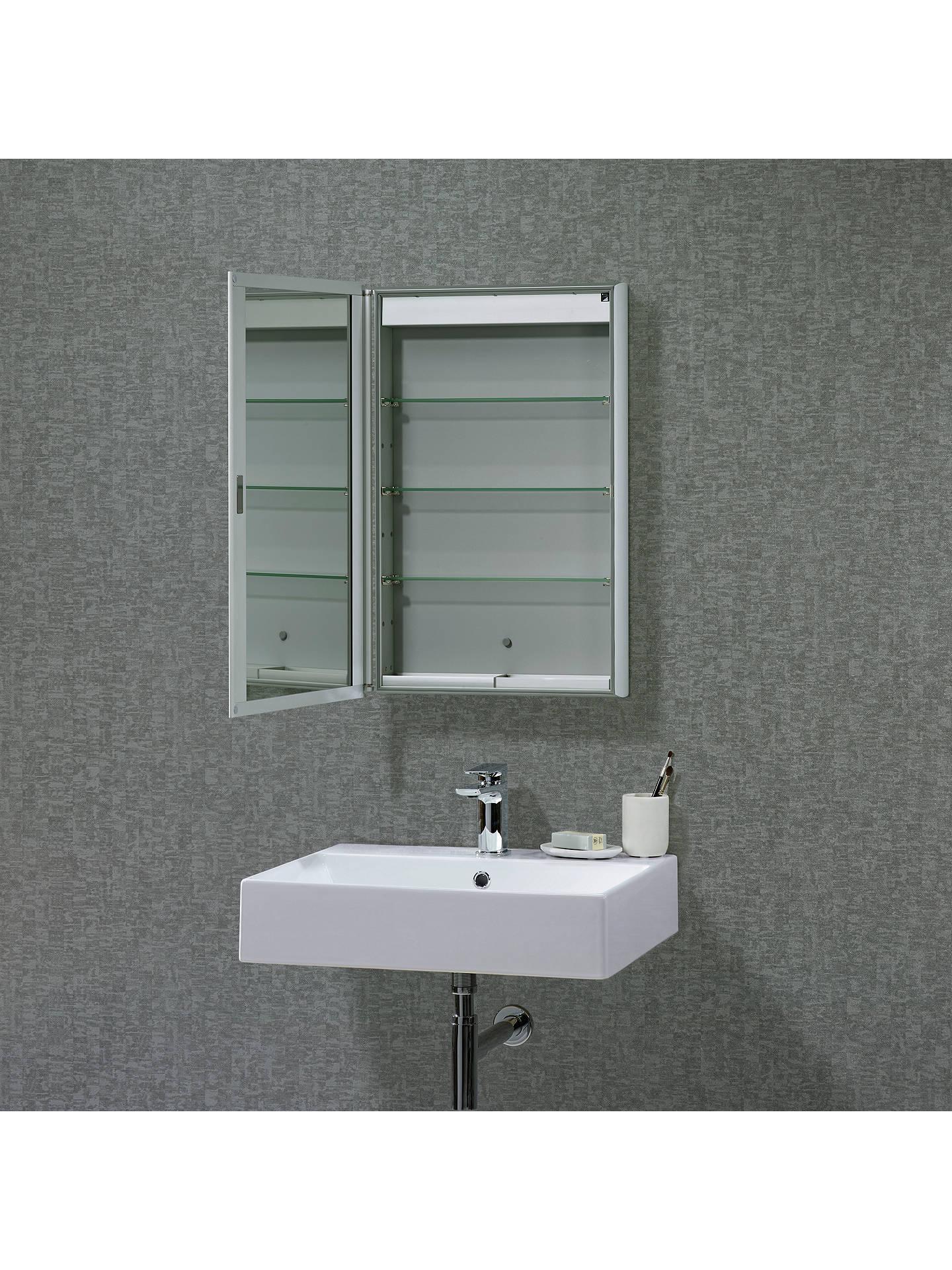 Roper Rhodes Limit Slimline Single Mirrored Bathroom Cabinet At John Lewis Partners