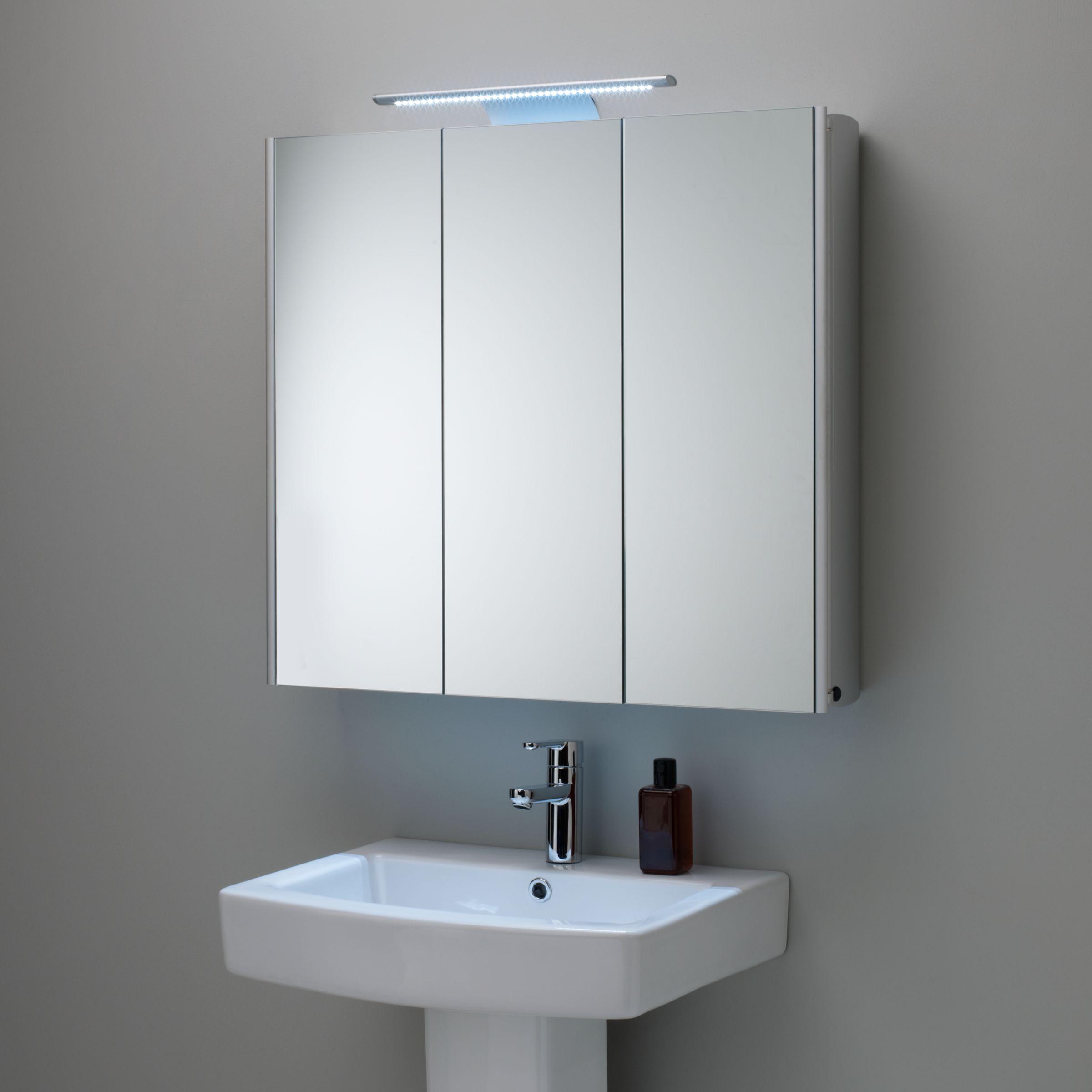 Interior Cabinet In Bathroom buy roper rhodes absolute triple mirrored illuminated bathroom cabinet online at johnlewis com