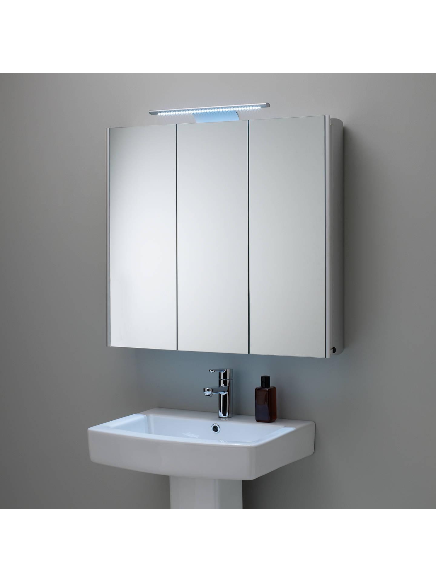 Roper Rhodes Absolute Triple Mirrored Illuminated Bathroom Cabinet Online At Johnlewis