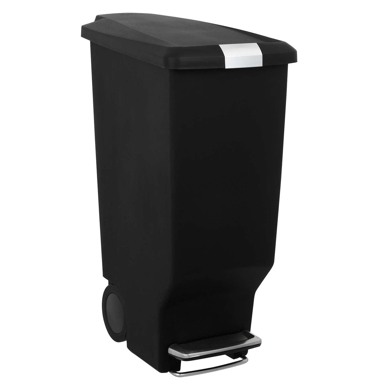 simplehuman slim plastic pedal bin black 25l at john lewis. Black Bedroom Furniture Sets. Home Design Ideas