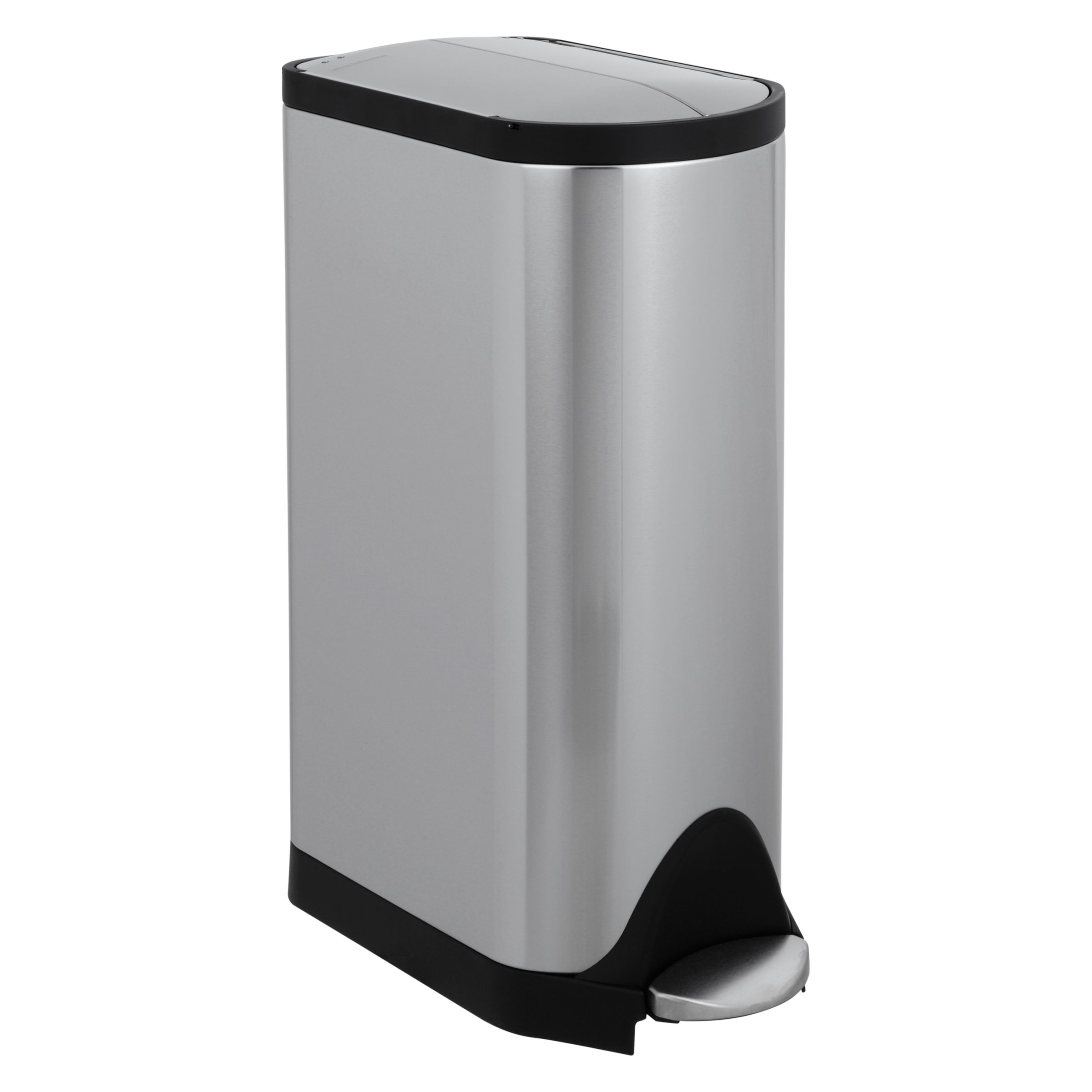 Simplehuman simplehuman Butterfly Pedal Bin, Brushed Stainless Steel, 30L