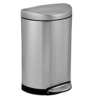 Simplehuman Semi Round Pedal Bin Brushed Stainless Steel 10l