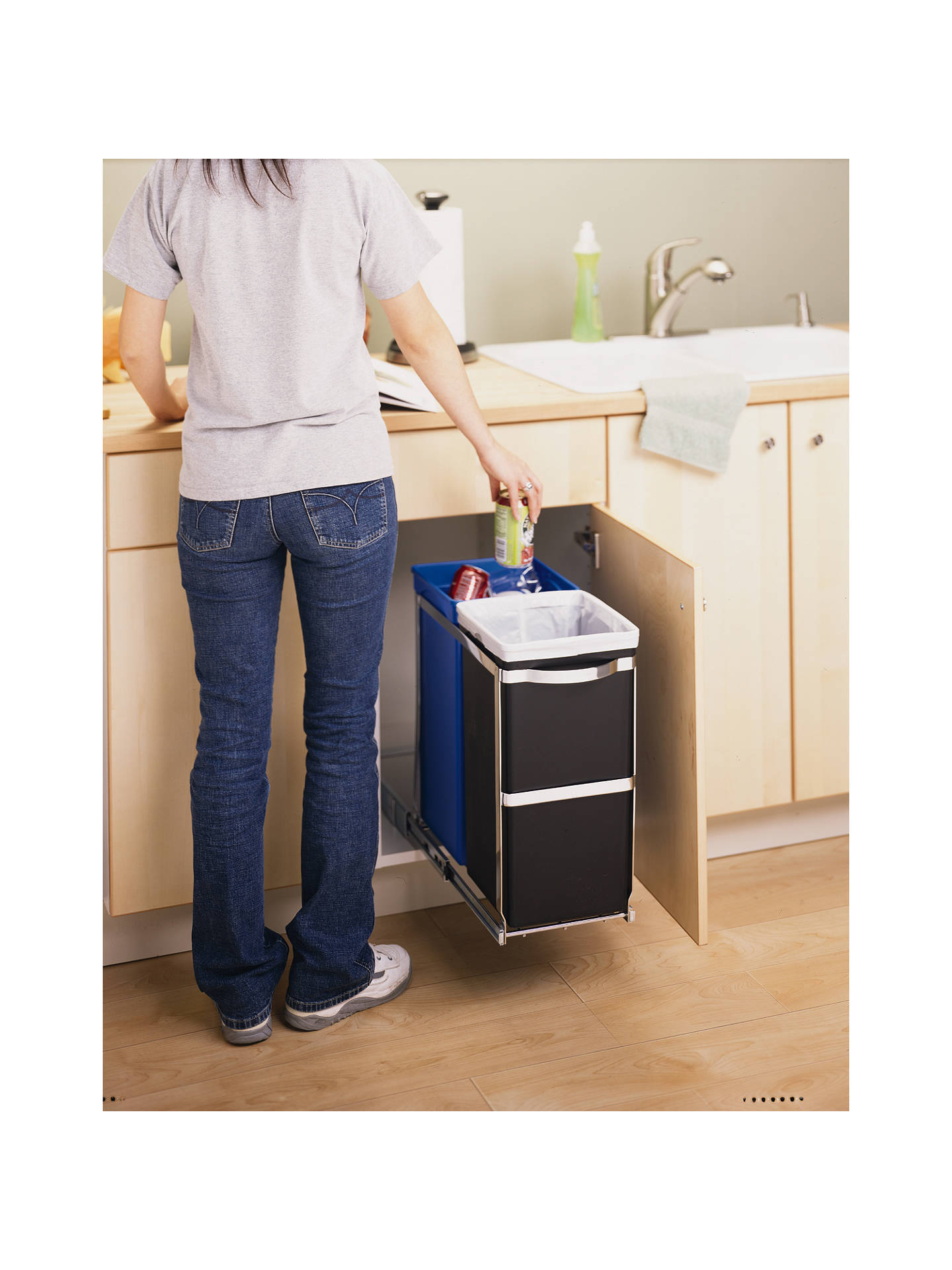 Simplehuman Pull Out Recycler Bin 20 15 Litre Online At Johnlewis