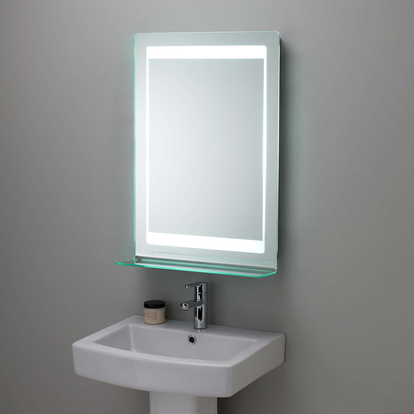 illuminated bathroom mirrors roper gamma backlit bathroom mirror at lewis 13216