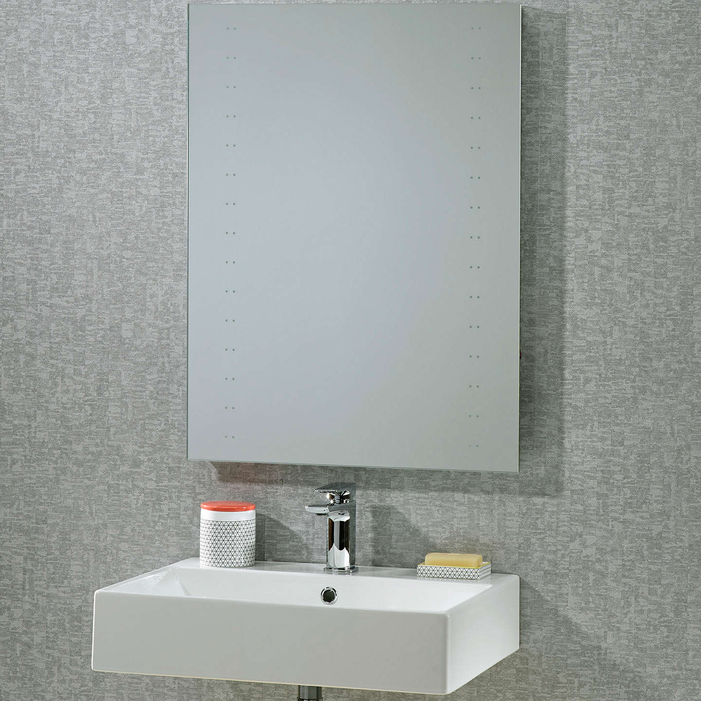 mirrors bathroom scene roper pulse led bathroom mirror at lewis 13700