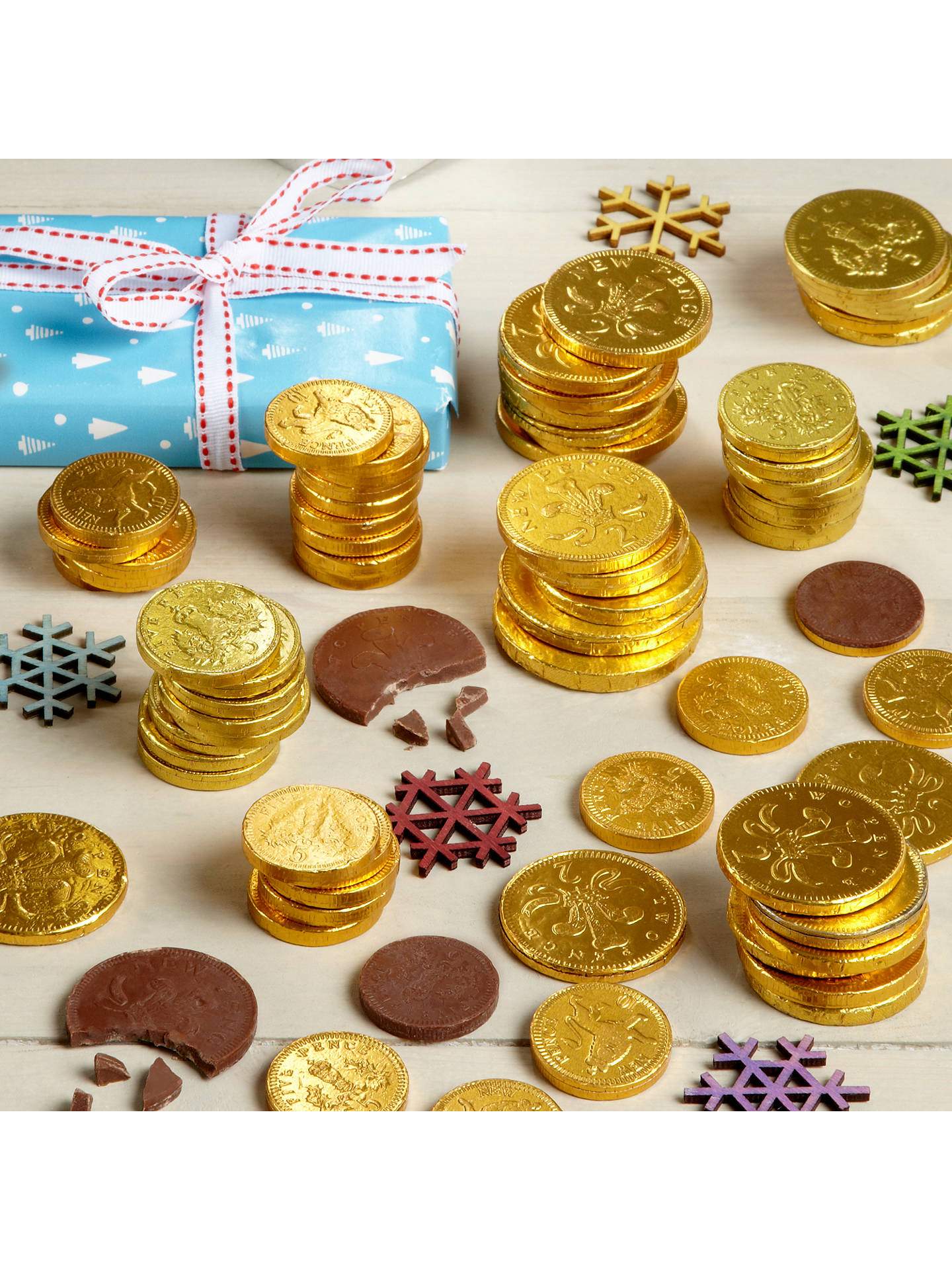 Buy House of Sarunds Milk Chocolate Coins, 75g Online at johnlewis.com