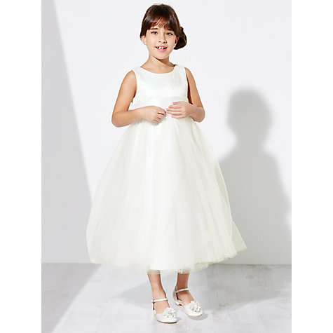 Buy John Lewis Girls' Fairy Bridesmaid Dress, Ivory Online at johnlewis.com