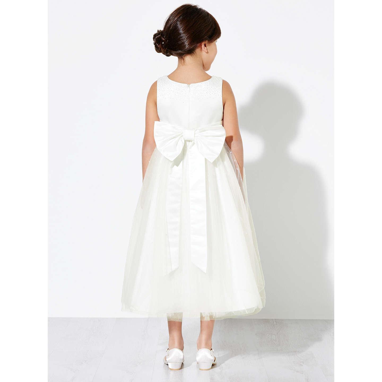 John Lewis Girls Fairy Bridesmaid Dress Ivory at John Lewis