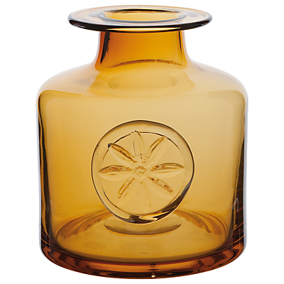Dartington Crystal Clematis Bottle Vase, Amber