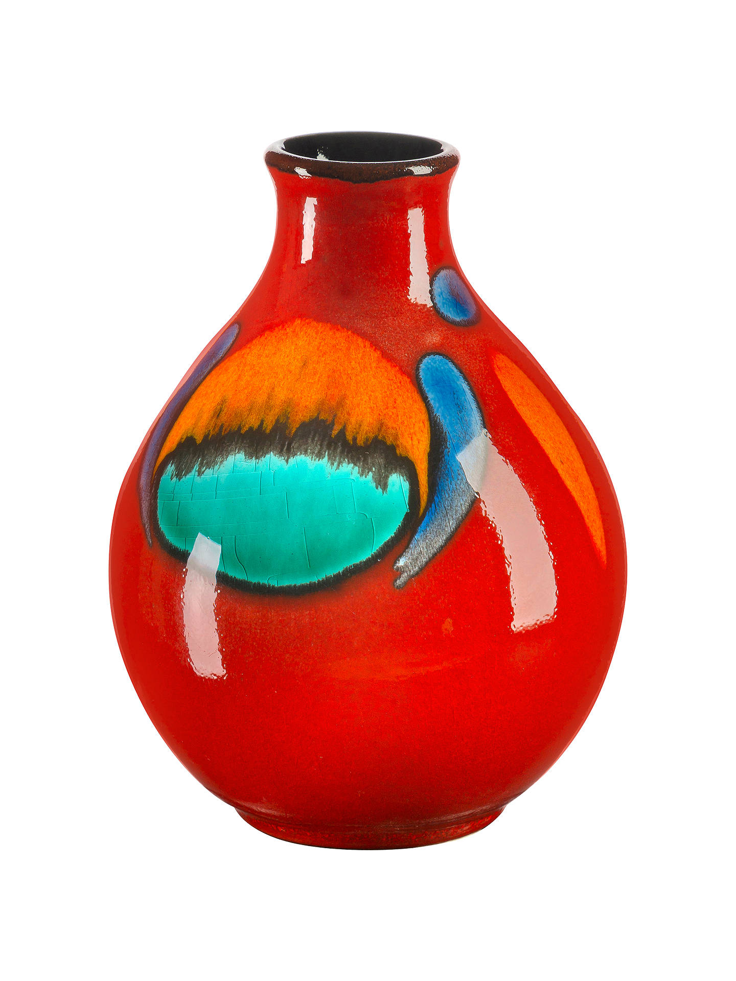 BuyPoole Pottery Volcano Purse Bud Vase, 12.5cm Online at johnlewis.com