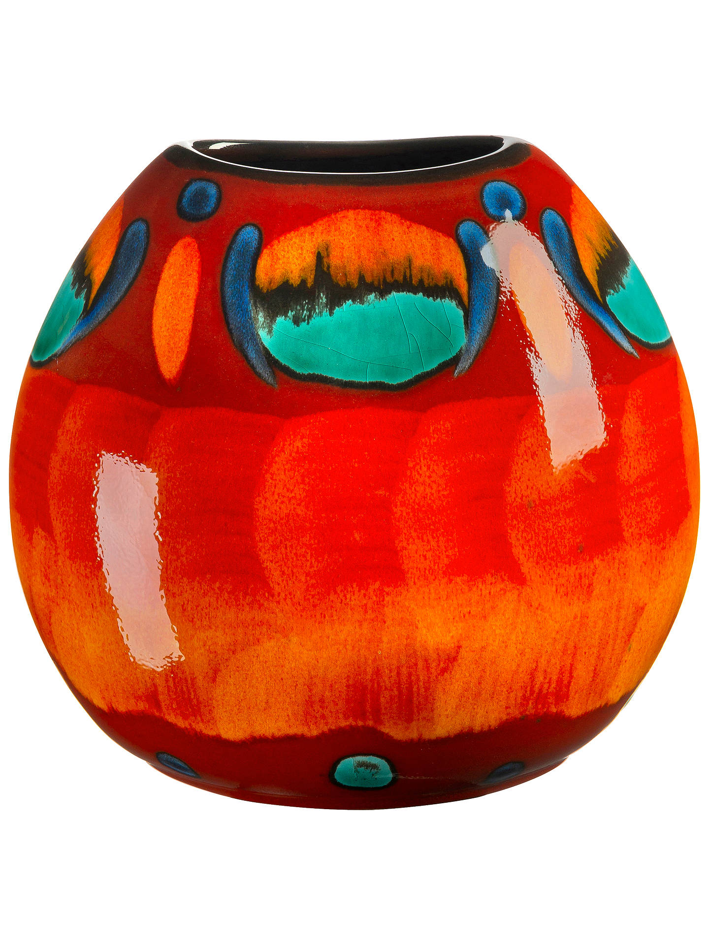 BuyPoole Pottery Volcano Purse Vase, H20cm Online at johnlewis.com