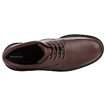 Buy Rockport Charlesview Waterproof Leather Derby Shoes, Chocolate Online at johnlewis.com